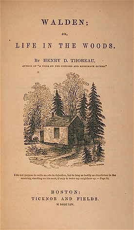 1854waldenbythoreau Henry David Thoreau   Walden (1854)