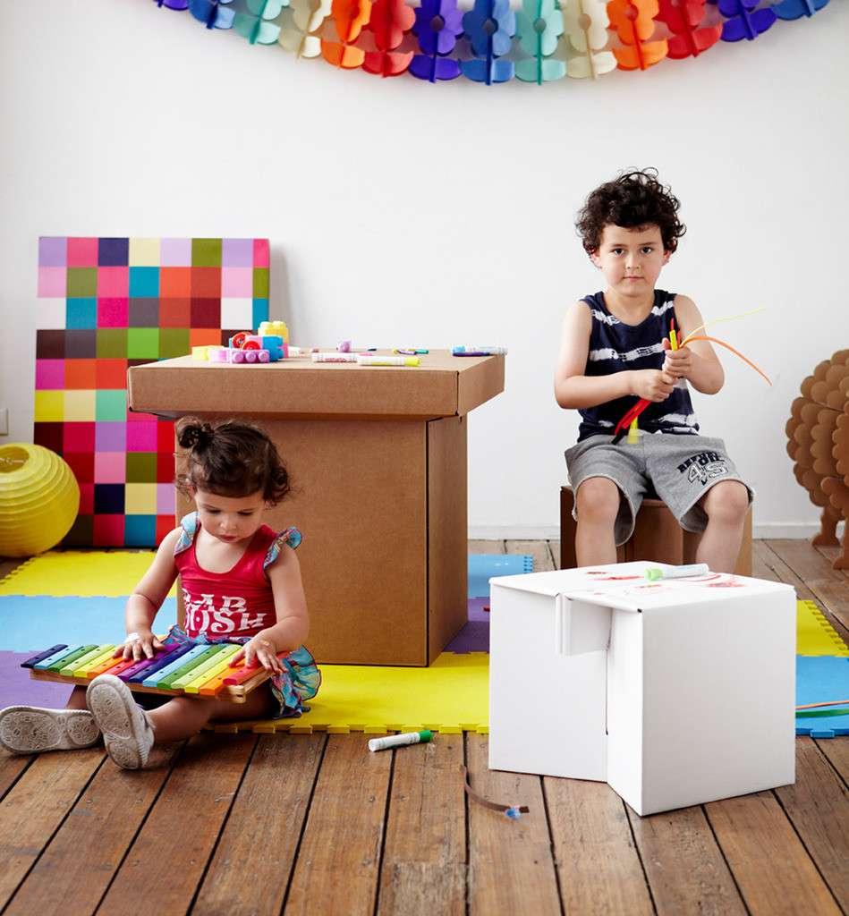 mesasysillascarton - Decoración Eco Chic: Muebles hechos de cartón