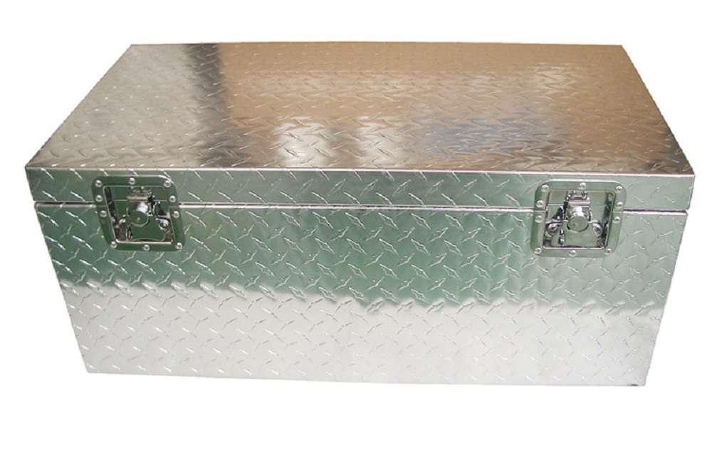malle metallique aluminium de chantier cantine mal894838 alm ebay. Black Bedroom Furniture Sets. Home Design Ideas