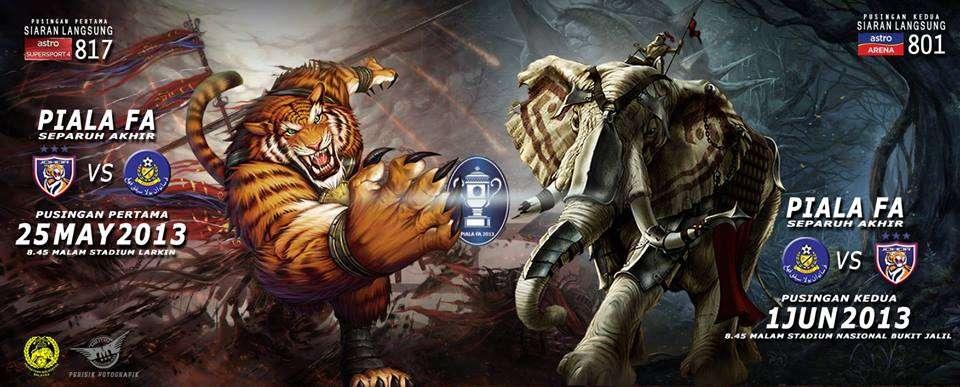 jdt vs pahang, semi final jdt vs pahang 2013,